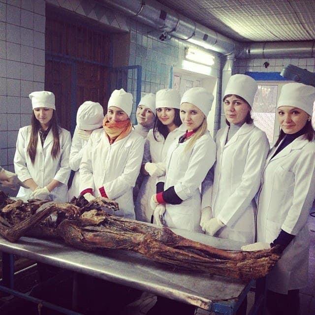 Студенты в морге