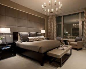 идеальной станет спальня в кофейных тонах