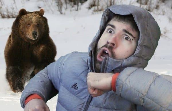 Убегающий от медведя