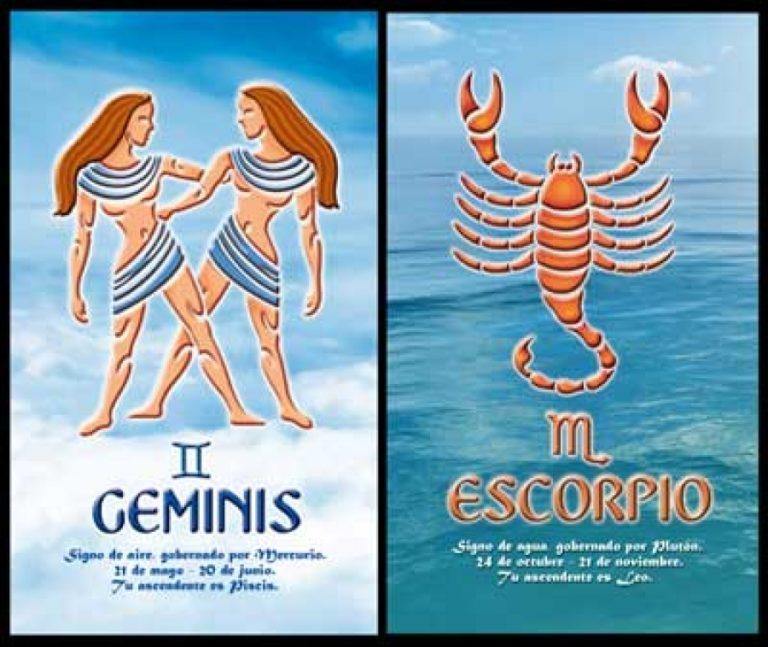 Скорпион женщ мужчина близн любовники