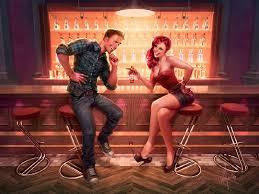 В баре
