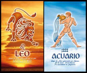 Лев и Водолей