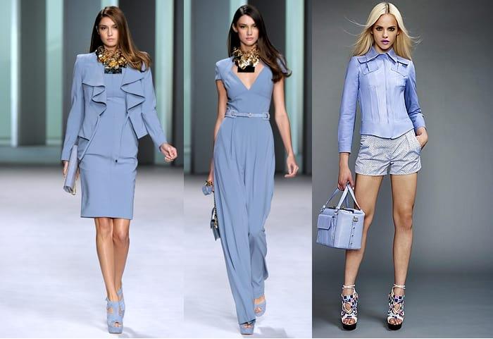 одежда голубого цвета
