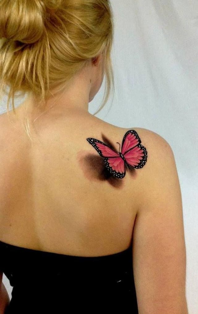 тату бабочки выглядят очень натурально