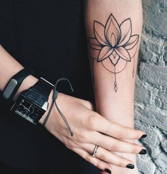 татуировка лотос фото