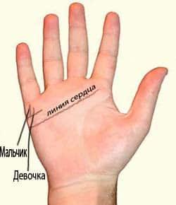 Линия на руке