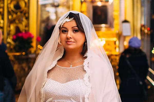 Венчание и крещение женщины в положении