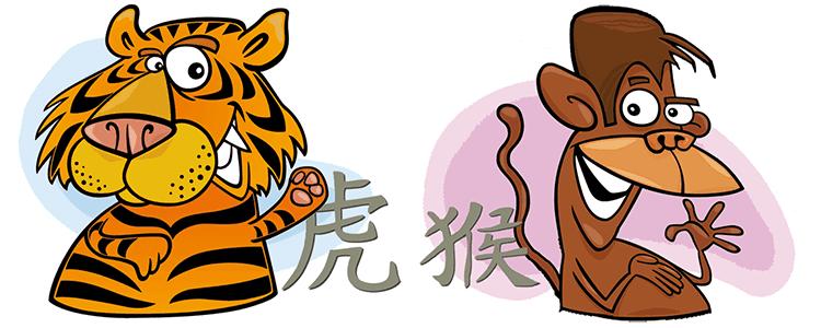 совместимость обезьяна тигр в любви