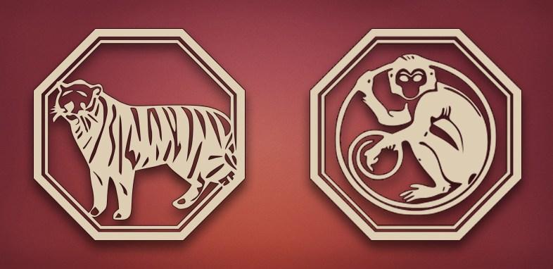 совместимость тигр обезьяна в отношениях