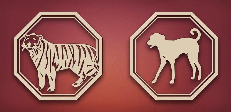 совместимость тигр собака