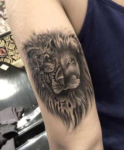 Что значит тату лев? Татуировка льва с короной у мужчин и девушек. Значение тату льва со львицей