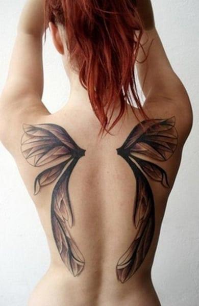 Значение, которым обладают тату в виде крыльев