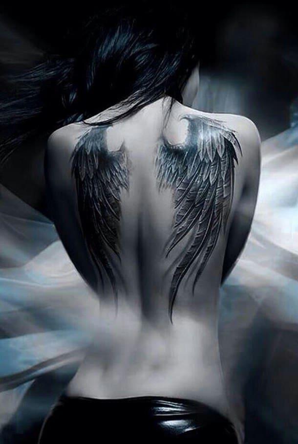 татуировка крылья падших ангелов