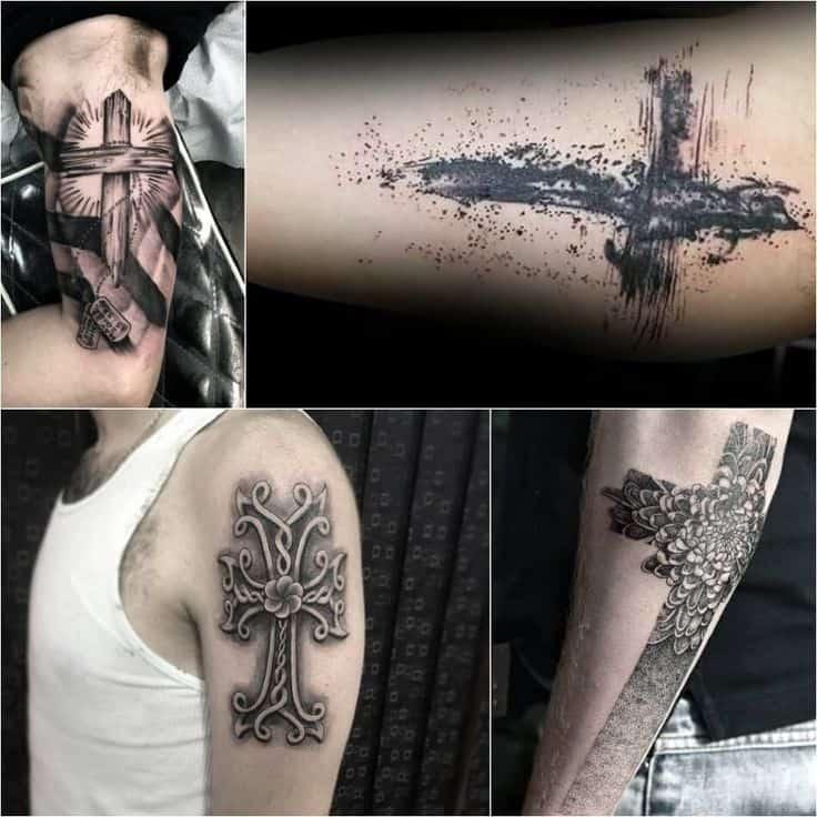 существует очень много вариантов тату креста