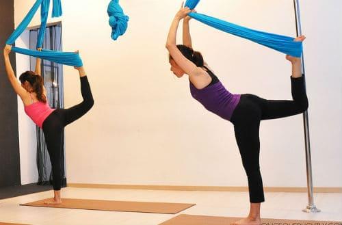 флай йога при месячных должна быть умеренной