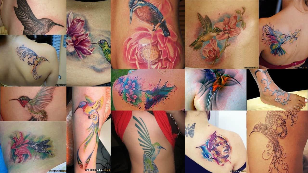 Значение, которым обладает красочное тату с колибри
