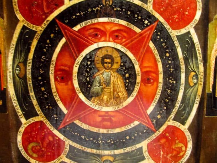 центральная фигура на иконе - Иисус Христос