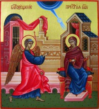 икона благовещения пресвятой богородицы