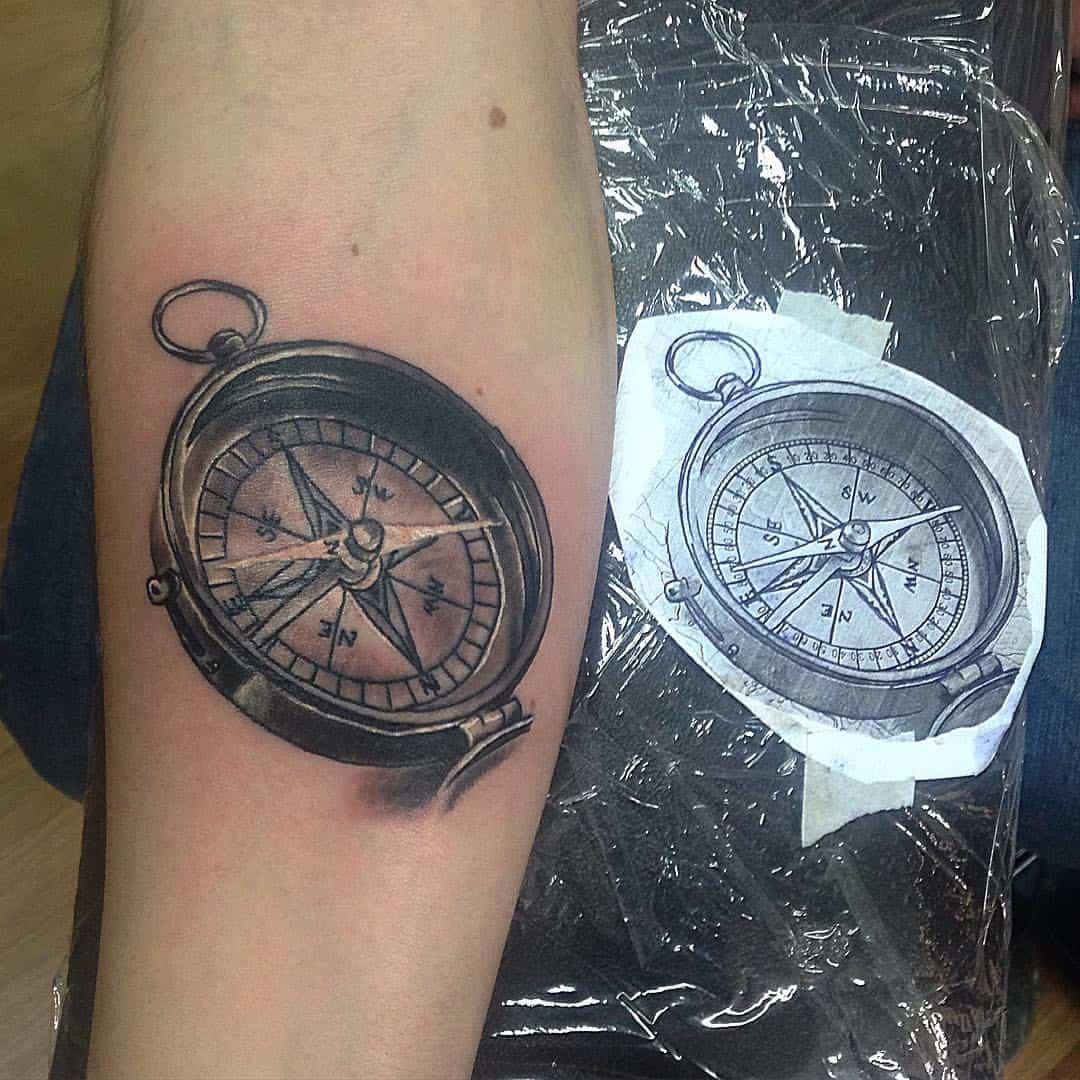 тату компас что значит
