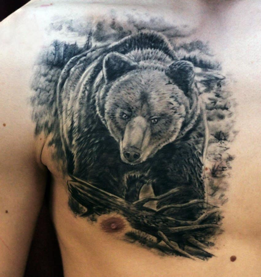 тату медведь значение для мужчин