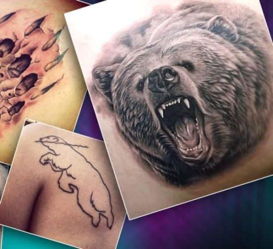тату медведь значение