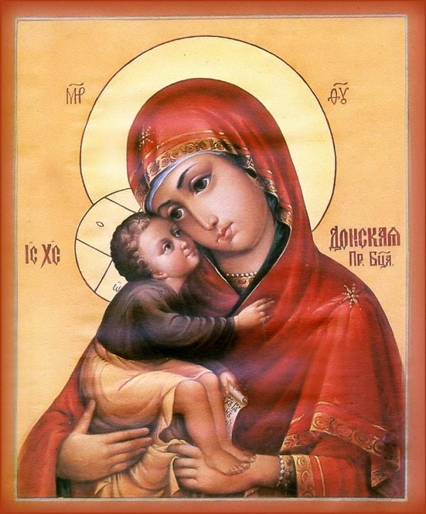 Икона Божией Матери; Донская: молитва, история, значения, в чем помогает
