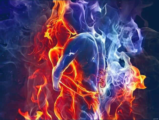 сочетание холода и огня
