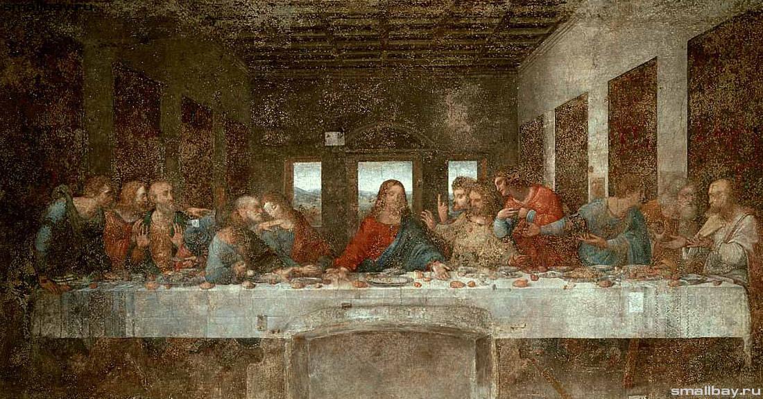"""фреска Да Винчи """"Тайная вечеря"""" фото"""