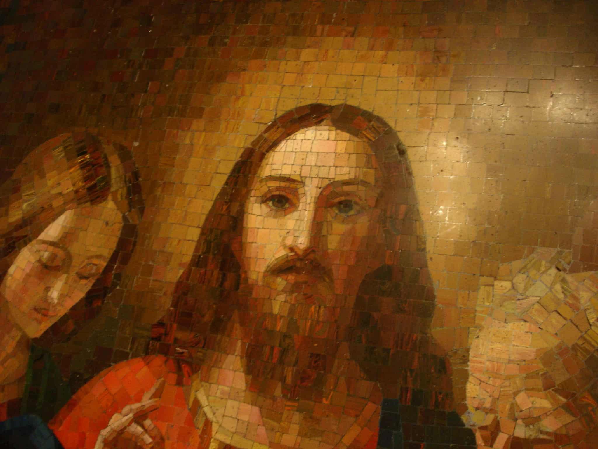 фигура Иисуса Христа на иконе