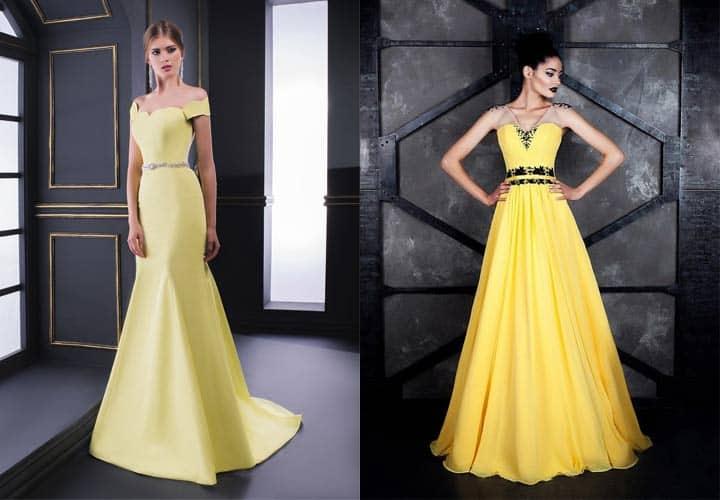 в этом году актуальна жёлтая гамма цветов наряда