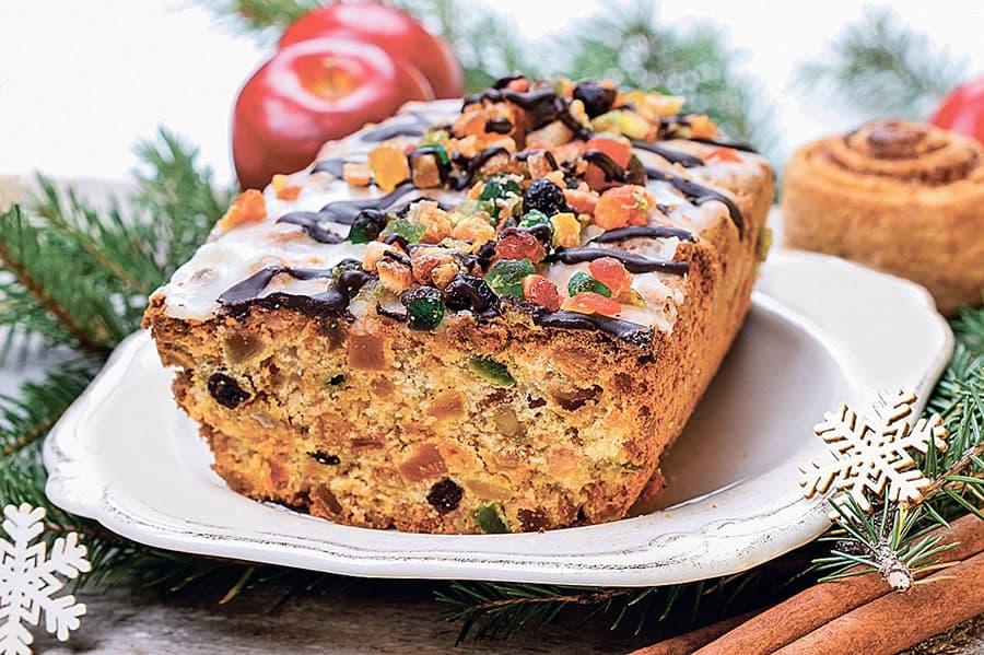 новогодний кекс с цукатами