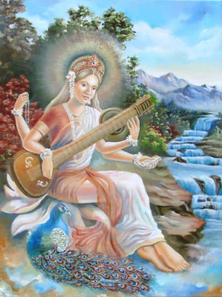 изображение божественной Сарасвати