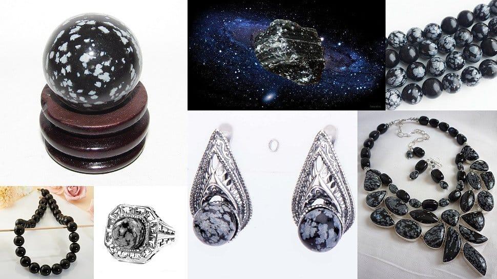 украшения с чёрными камнями