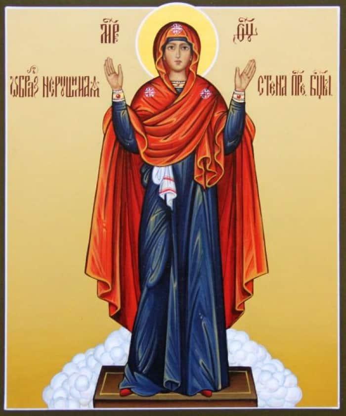 Молитва Богородице; Нерушимая стена: текст на русском, как правильно читать