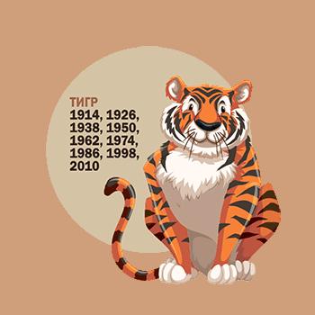 Год Тигра какие года рождения