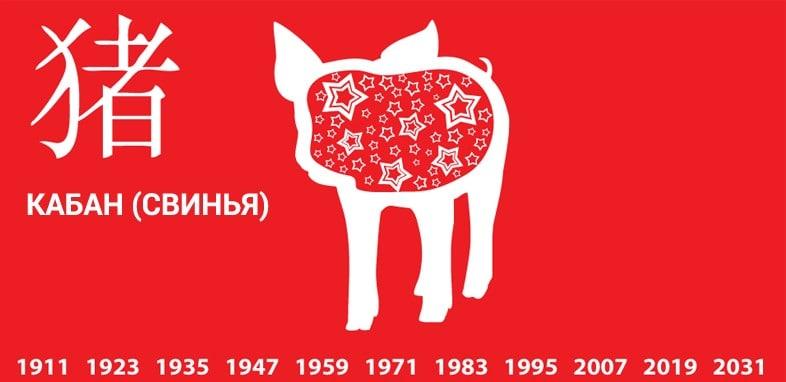 1995 год какого животного по восточному календарю