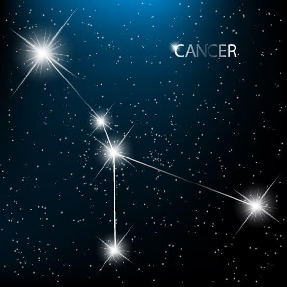 созвездие Рака на небе