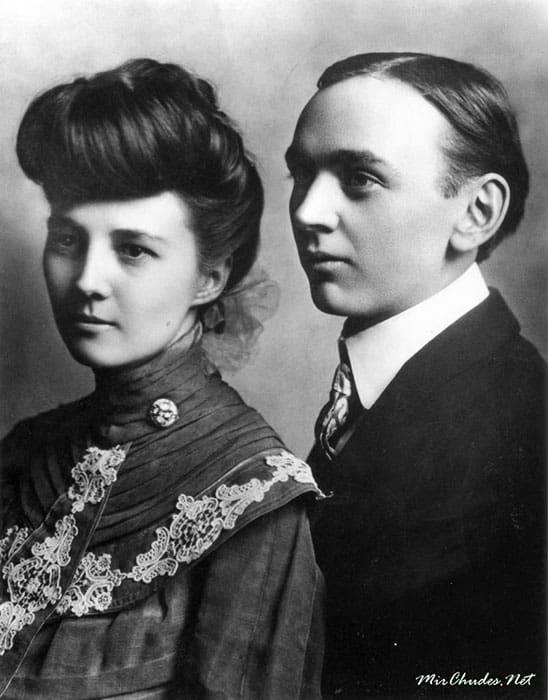 Эдгар Кейси с женой Гертрудой