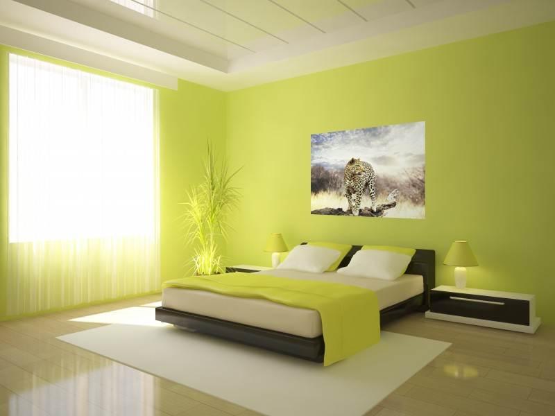 спальня в жёлтой цветовой гамме