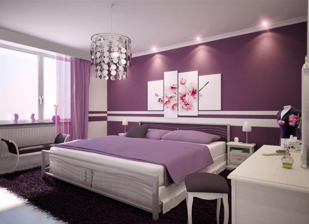 спальня в цветовой гамме инь
