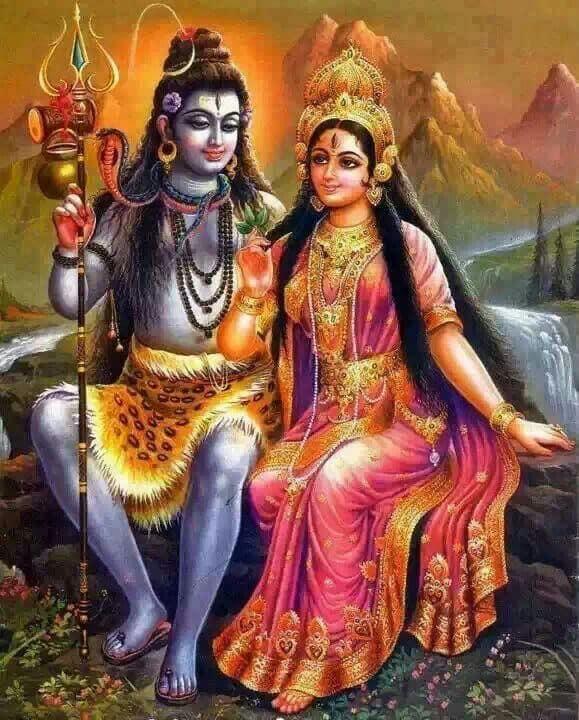 Божественная Парвати и Шива