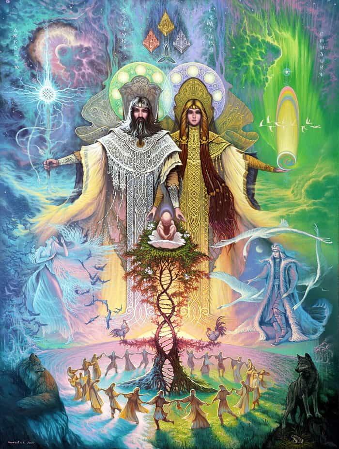 Сварог и Лада - его жена