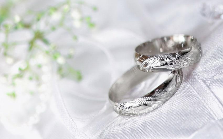 серебрянные кольца для серебрянной свадьбы