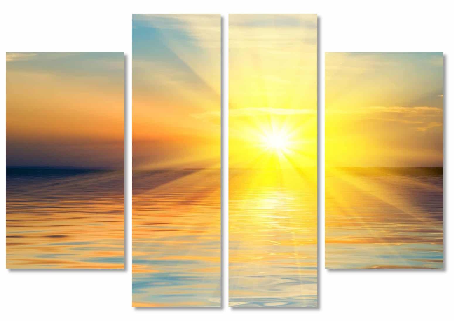 модульная картина с лучами солнца