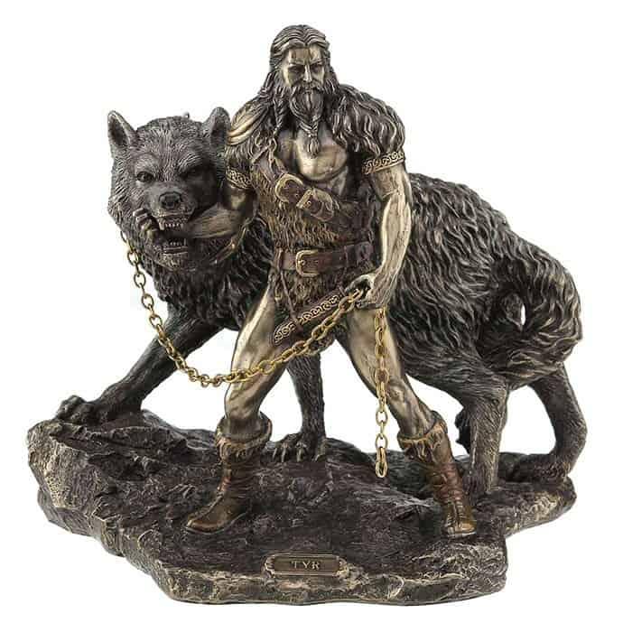 Фенрир волк отгрызает руку Тюру