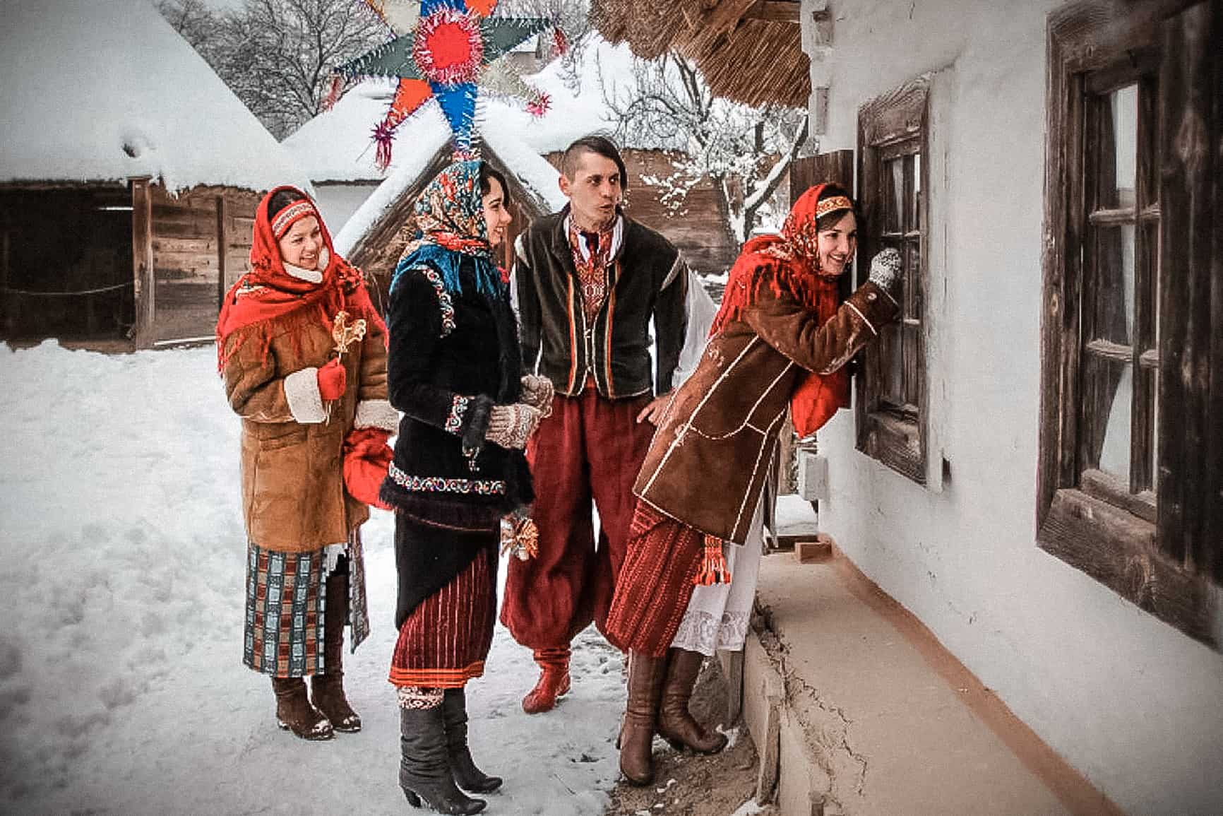 колядующие на Рождество фото