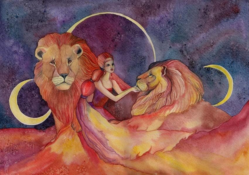 луна в льве для женщины