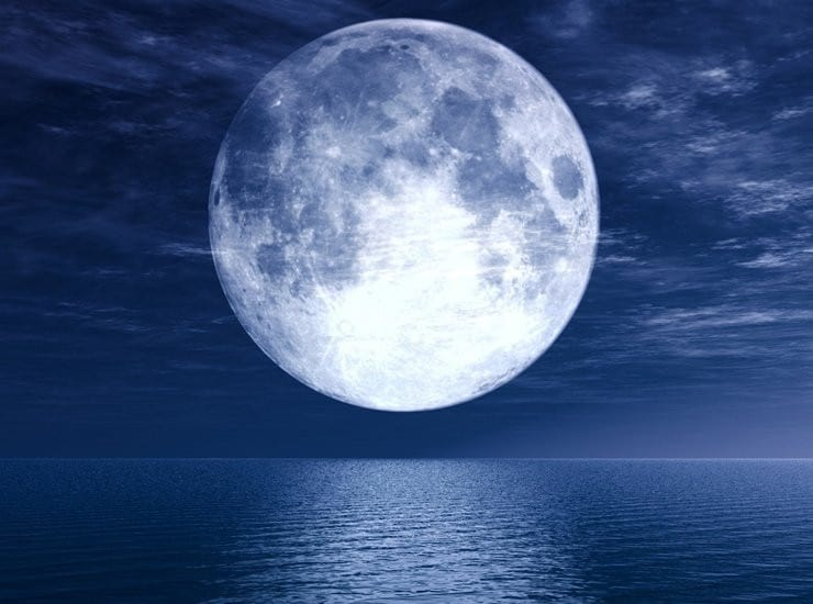 Белая Луна показывает хорошую карму
