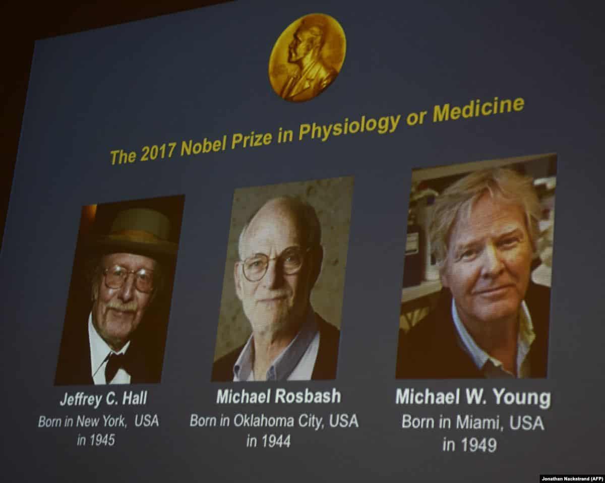 учёные, получившие Нобелевскую премию за исследования циркадных ритмов