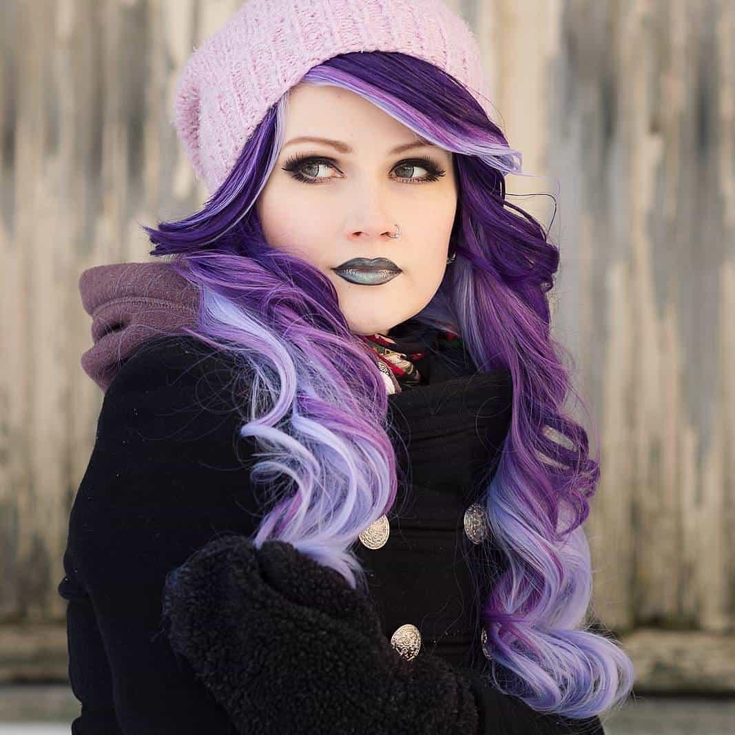 сиреневый цвет волос у девушки фото
